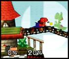 Super Smash Bros. Screenshot Flash Mario's fists with a tap of the A Button and make your competition see stars.