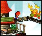 Super Smash Bros. Screenshot Mario's trademark fireball will bounce across the ground until it finds a target.