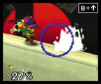 Super Smash Bros. Screenshot Falcon's devastating dive will drive his opponents out of the ring before they can see the checkered flag.