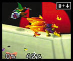 Super Smash Bros. Screenshot Capt. Falcon uses his lead foot in the ring, too. His kick will jump-start any opponent who underestimates him.