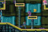 Metroid Fusion Screenshot Samus running through environment