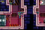 Metroid Fusion Screenshot Screenshot showcasing the new edge grab ability