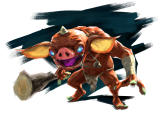 The Legend of Zelda: Breath of the Wild Concept Art Promotional image of a Bokoblin