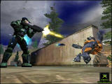 Halo: Combat Evolved Screenshot Shooting a grunt
