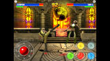 Ultimate Mortal Kombat 3 Screenshot Scorpion roundhouse