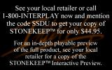 Stonekeep Other Ordering information