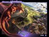 Neverwinter Nights Wallpaper Game box inside flap by Mike Sass