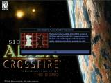 Sid Meier's Alien Crossfire Screenshot Many options on the main menu are disabled