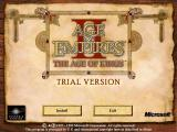 Age of Empires II: The Age of Kings Screenshot The installation title screen