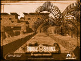 Riddle of the Sphinx: An Egyptian Adventure Wallpaper Sepia