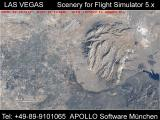 Las Vegas Scenery for Microsoft Flight Simulator 5 Screenshot Satellite view