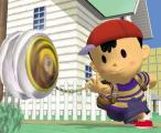 Super Smash Bros.: Melee Screenshot Ness walks the dog and tries to dole out some damage.