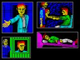 Total Recall Concept Art Spectrum graphic windows by Mark R. Jones made for the scrapped Spectrum version of 'Total Recall'. Based on Steve Cain's drawings.