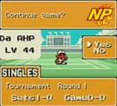Mario Tennis Screenshot No matter what's going on in your career, you can always save your progress and begin again exactly where you left off.