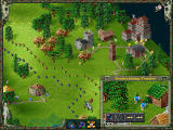 "The Settlers II: Veni, Vidi, Vici Screenshot ""Use catapults to protect your kingdom against uninvited guests!"""