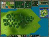 "The Settlers II Mission CD Screenshot ""Or build your own world with the easy, almost self-explanatory Map Editor"""