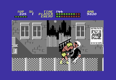 Bad Street Brawler Commodore 64 Bop'n Rumble is probably the only game in which you get to beat up old blind people ...