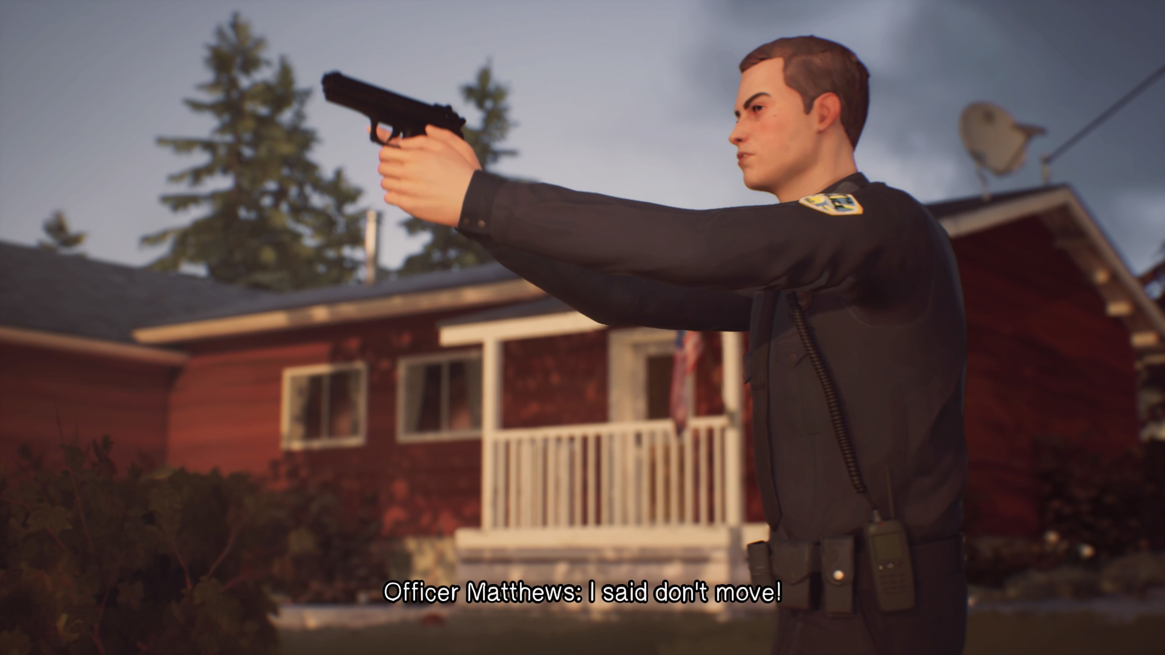 Life Is Strange 2: Episode 1 - Roads PlayStation 4 Trigger happy rookie officer pulling a gun on a couple of kids