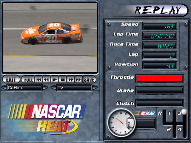 NASCAR Heat Windows Replays can be used for race analysis purposes.