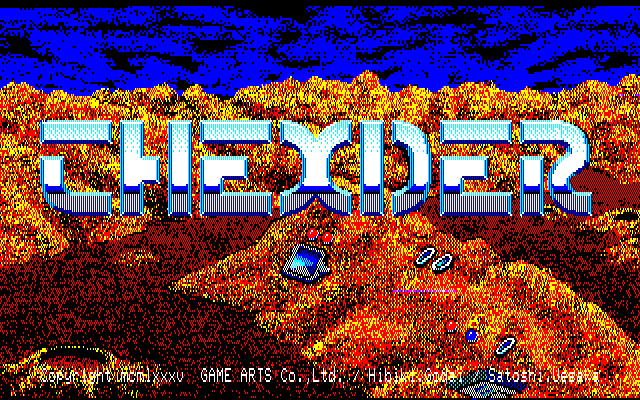 Thexder title screen, PC-88 version