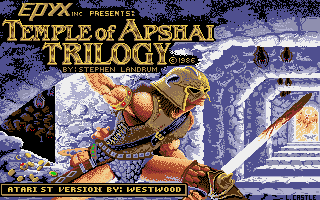 Temple of Apshai Trilogy Atari ST Title screen