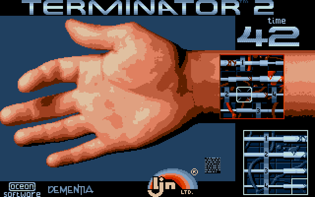 Terminator 2: Judgment Day DOS Level 3 - Repair damaged tendons on the T800's arm