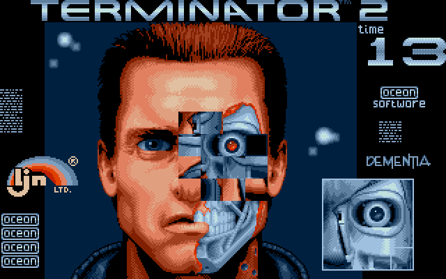 Terminator 2: Judgment Day DOS Level 5 - Repair damaged eye on the T800's face