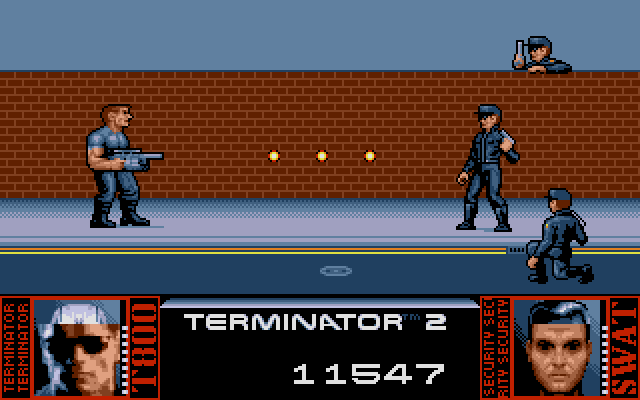 Terminator 2: Judgment Day DOS Level 6 - Make your way through the SWAT units