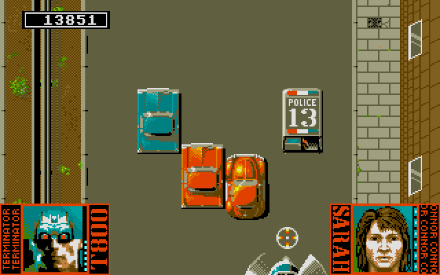 Terminator 2: Judgment Day DOS Level 7 - Ride a SWAT van and destroy helicopter