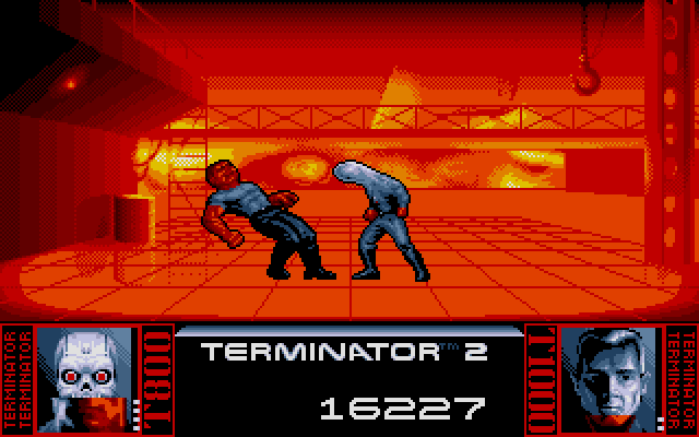 Terminator 2: Judgment Day DOS Level 8 - Fight with T1000 in the steel mill