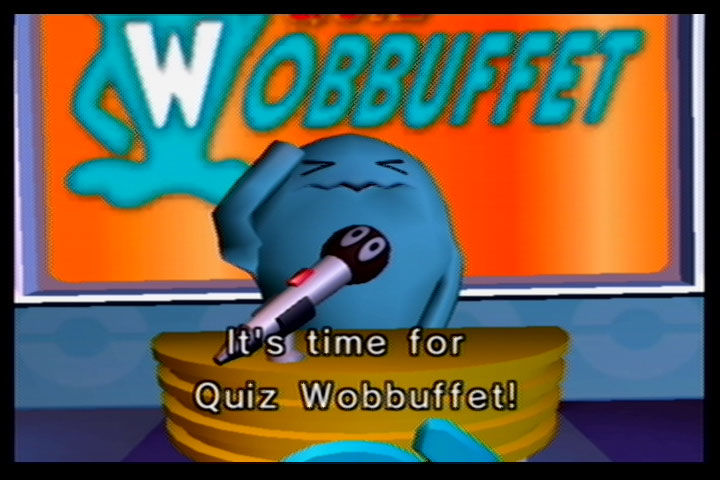 Pokémon Channel GameCube Quiz Wobuffet, another interesting choice for host