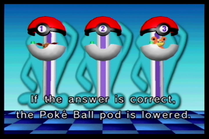 Pokémon Channel GameCube My money's on the invisible Goldeen in Pokéball 2