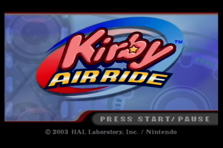 Kirby Air Ride GameCube Title Screen