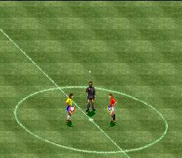International Superstar Soccer SNES A coin can decide your future...And your side field!