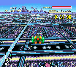"F-Zero SNES Use carefully the jumping platforms and you can have a ""explosive"" aerial vision of Mute City..."