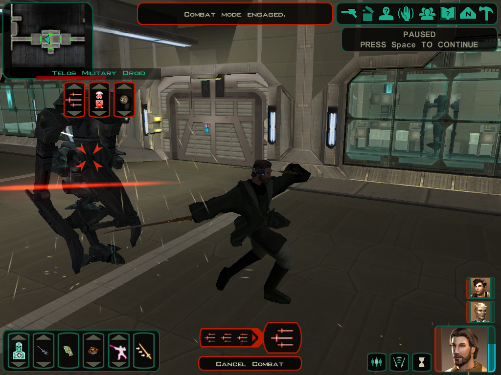 Star Wars: Knights of the Old Republic II - The Sith Lords Windows Am I dancing or fighting?  The lightsaber forms (used even without a lightsaber) affect what movements you do in battle