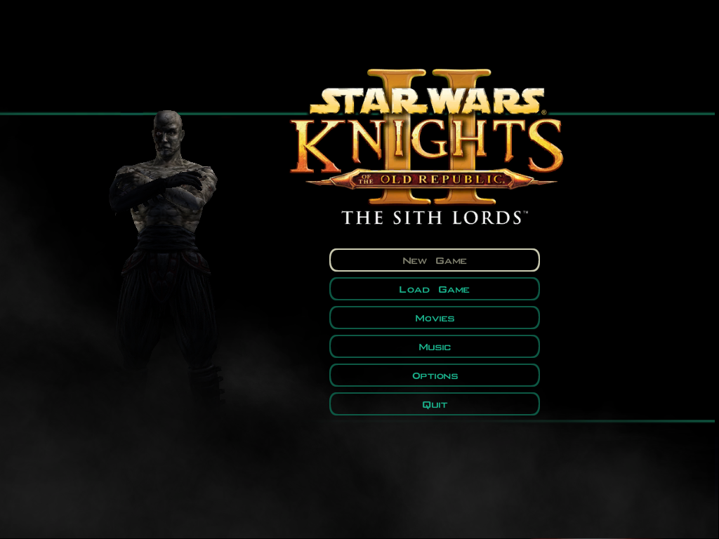 Star Wars: Knights of the Old Republic II - The Sith Lords Windows Main menu