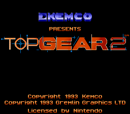 Top Gear 2 SNES Title screen