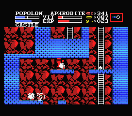 Knightmare II: The Maze of Galious MSX Ladders and steam vents