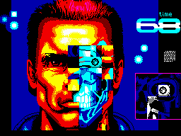 Terminator 2: Judgment Day ZX Spectrum Level 5 - Repair damaged eye on the T101's face