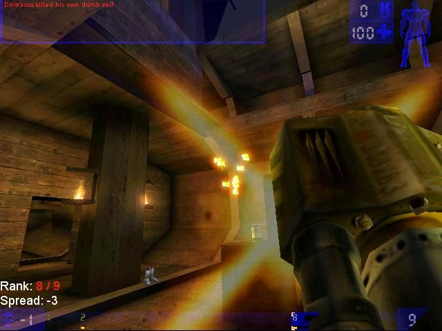 Unreal Tournament Linux Fragged Myself (OpenGL)