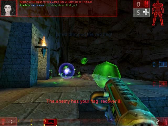 Unreal Tournament Linux Flag Captured (OpenGL)