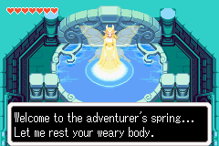 The Legend of Zelda: The Minish Cap Game Boy Advance In some place of the game, a pretty fairy will restore your life hearts. And give something to you too...