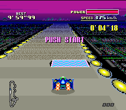 F-Zero SNES This demo will appear after a while if you don't press START button in the title screen.