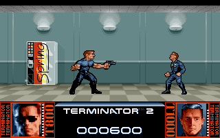 Terminator 2: Judgment Day Amiga Level 1 - Fight with T1000 in the shopping mall