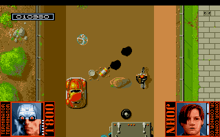 Terminator 2: Judgment Day Amiga Level 2 - Ride a motorbike through the flood channel