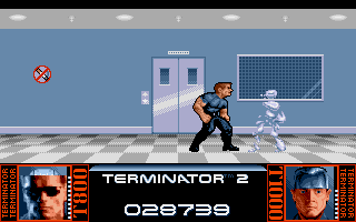 Terminator 2: Judgment Day Amiga Level 4 - Fight with T1000 in the hospital