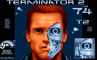 Terminator 2: Judgment Day Amiga Level 5 - Repair damaged eye on the T800's face