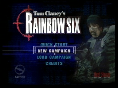 Tom Clancy's Rainbow Six Nintendo 64 Title Screen