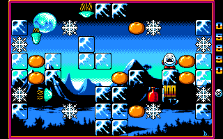 Kwik Snax Amiga Ice - just crushed one enemy with ice block